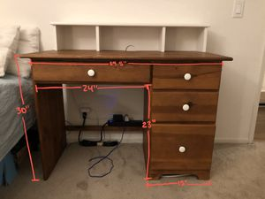 Desk with matching chair + hutch for Sale in San Diego, CA