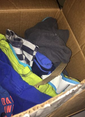 Box of baby boy clothes 9-12 mo for Sale in Richmond, VA