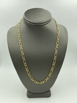 """14KT YELLOW GOLD """"UNIQUE"""" FIGARO LINK CHAIN 22"""" for Sale in Fontana, CA"""