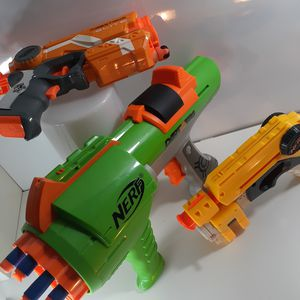 3 Nerf Guns and a few darts for Sale in Tacoma, WA