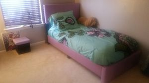 Brand New Twin Size Purple Faux Leather Platform Bed Frame ONLY for Sale in Silver Spring, MD