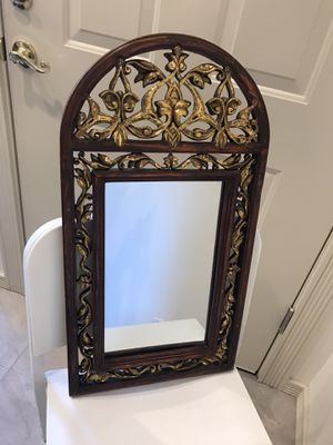 Beautiful antique carved wood mirror with gold design. Pick up in Pasadena. for Sale in Pasadena, CA