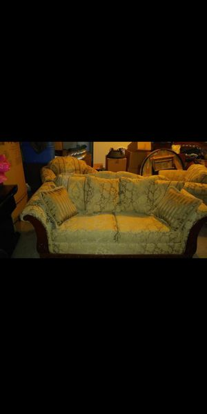 Gorgeous gold sofa with 2 matching chairs in excellent condition! for Sale in Clayton, NC