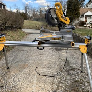 DeWalt 12 in. 15 Amp Compound Double Bevel Miter Saw with Heavy-Duty Miter Saw Stand for Sale in Elkridge, MD