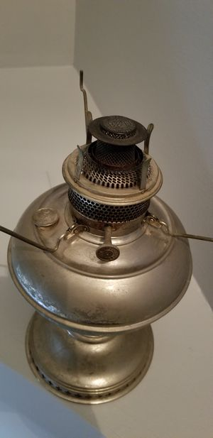 Antique Bradley & Hubbard B&H Oil Lamp Turn of Century 1900's Burner for Sale in Washington, DC