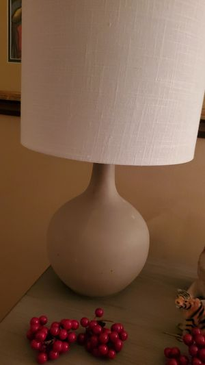 Lamp with linen shade for Sale in Dearborn, MI