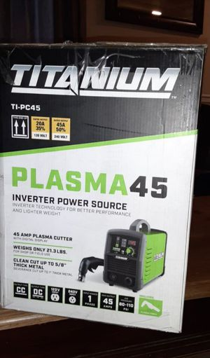 New plasma cutter.titanium 45 utube it it does every thing it says it dpes for Sale in Tacoma, WA