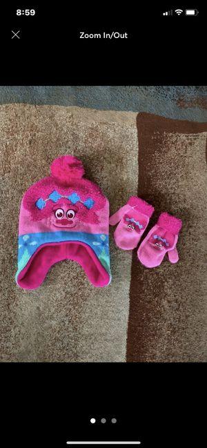 NWOT Dreamworks Trolls Child's Hat & Gloves Set Pink & Sea Blue One Size for Sale in Carlsbad, CA