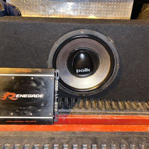 """Polk Audio Sub 12"""" And Renegate Amp for Sale in Rockville, MD"""