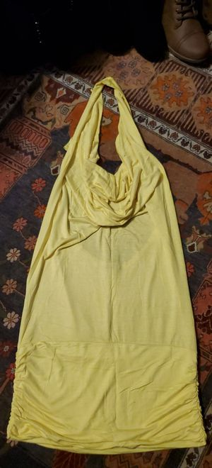 Sexy yellow halter mini dress with cowl front for Sale in Berkeley, CA