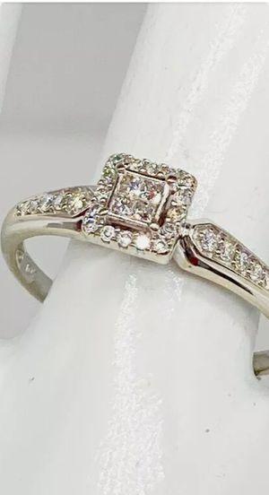 10k White Gold . 75ct Natural Princess Cut DiamondWedding Ring for Sale in Costa Mesa, CA