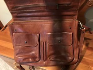 Italian leather messenger bag for Sale in Kenmore, WA