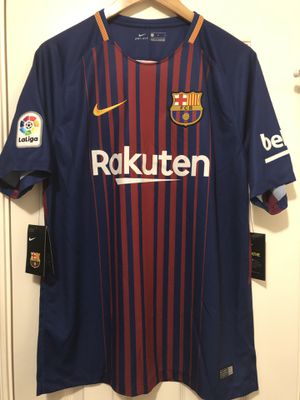 New L Nike FC Barcelona 2017 Home Kit Jersey Barca for Sale in Houston, TX