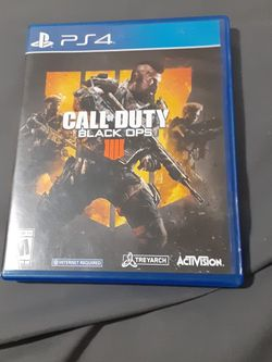 Ps4 Game Call of Duty Black Ops 4 for Sale in Riverdale,  CA