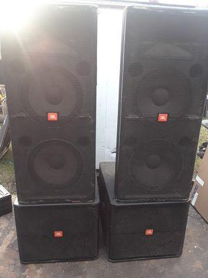 Jbl speakers dj equipment qsc amp for Sale in Houston, TX
