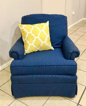 Navy Upholstered Chair. for Sale in Venetia, PA