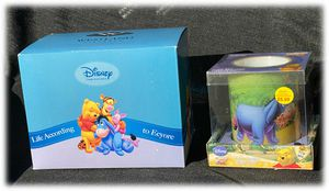Winnie The Pooh Eeyore Salt & Pepper Hugging Shakers Ceramic NEW Battery Candle for Sale in Moreno Valley, CA