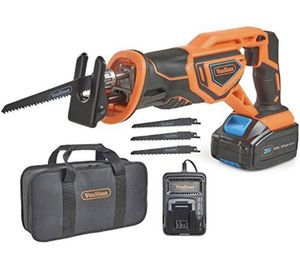"""VonHaus 20V MAX Lithium-Ion Cordless Reciprocating Saw Kit with 4x Wood Blades and 1"""" Stroke Length For Wood & Metal Cutting - Includes 3.0Ah Battery for Sale in Los Angeles, CA"""