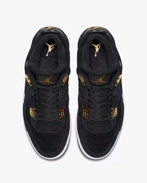 Air Jordan 4 Retro Royalty Black Gold Suede for Sale in Ashburn, VA