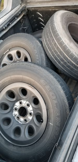 Chevy wheels whit decent tires for Sale in San Angelo, TX