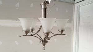 5 bulbs chandelier & 2 island pendant shade covers for Sale in South Riding, VA