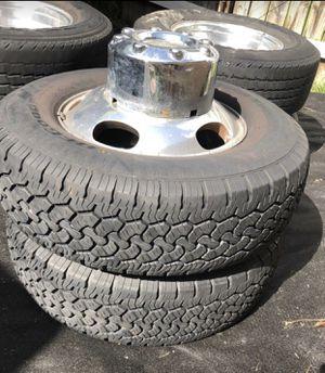 F-350 Tire Set with Rims for Sale in Miami, FL