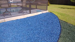 Blue rubber mulch for Sale in Leander, TX
