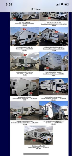 Clean Used RV's, 5th Wheels, Toy Haulers, Travel Trailers for Sale in El Cajon, CA