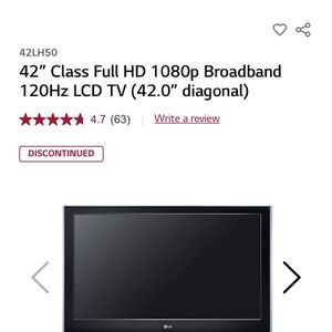 LG PLASMA TV 42 Inch for Sale in Tacoma, WA