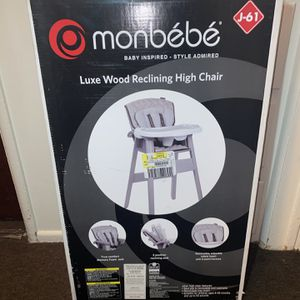 Monbebe Luxe Wood Reclining Highchair for Sale in Pico Rivera, CA