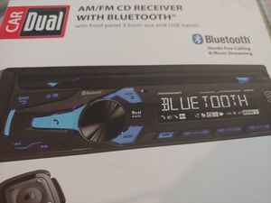 Car stereo : Dual am/FM CD receiver Bluetooth usb aux input 200 watts steering wheel remote control for Sale in Santa Ana, CA