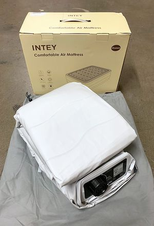 """New in box $70 INTEY (Queen Size) Air Mattress Bed Inflatable w/ Built-in Electric Pump, Size: 80x60x22"""" for Sale in Pico Rivera, CA"""