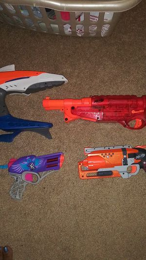 4 nerf guns no bullets for Sale in West Covina, CA
