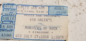 RARE MONSTER'S OF ROCK Tour for Sale in Everett, WA