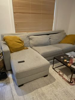 West Elm sectional grey couch for Sale in Atlanta,  GA