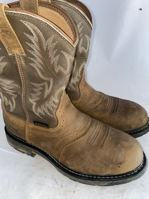 Men Preowned Ariat Western Steel Toe Boot Size 9 for Sale in San Diego, CA