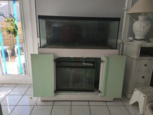 70 gallon tank with stand and 29g sump for Sale in Virginia Beach, VA