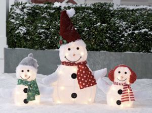 Christmas Light up Outdoor 3-Piece Snowman Family Inflatable Decoration Set for Sale in West Hollywood, CA