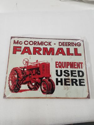 Farmall farm tractor equipment metal sign for Sale in Vancouver, WA