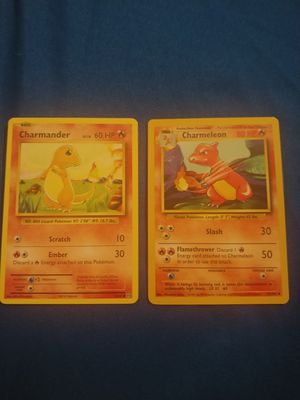 Base Set Charmander and Charmeleon for Sale in Anaheim, CA