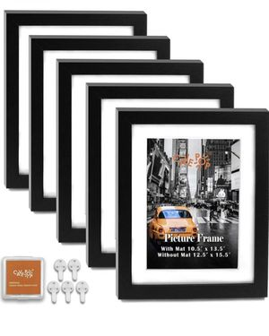 11x14 Black Wood Textured Picture Frames 5-Sets for Sale in Chula Vista, CA
