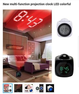 New multi-function projection clock LED colorful for Sale in Philadelphia, PA