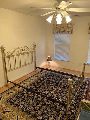 Beautiful Bed Frame with matching Lamp for Sale in Glen Allen, VA