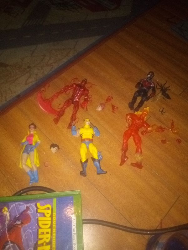 MARVEL LEGENDS COMPLETE 25.00 EACH VENOM CARNAGE WOLVERINE JUBILEE ANTMAN HUMAN TORCH