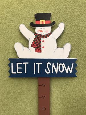 """""""Let It Snow"""" winter sign / decoration for Sale in Bolingbrook, IL"""