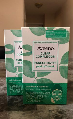 Aveeno face mask 2 for $10 for Sale in Belleville, NJ