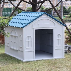 "(NEW) $85 Plastic Dog House Medium size Pet Indoor Outdoor All Weather Shelter Cage Kennel 39x33x32"" for Sale in El Monte, CA"