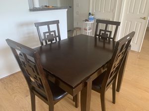 Dining table with four padded chairs for Sale in North Bethesda, MD