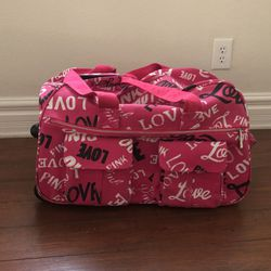 VICTORIA SECRET LOVE PINK Duffle Rolling Luggage for Sale in Las Vegas,  NV