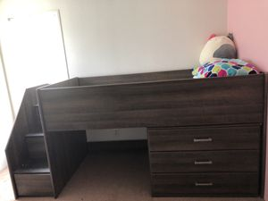 Twin Loft Storage Bed for Sale in Hubbard, OR